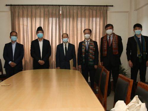 नेमकिपाका अध्यक्ष बिजुक्छेँ – उत्तर कोरियाका राजदूत भेट